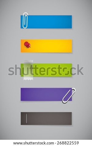 Notes, stickers. - stock vector