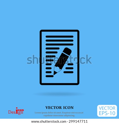 notes vector icon - stock vector
