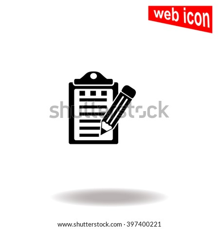 Notes with a pencil. Universal icon to use in web and mobile UI - stock vector