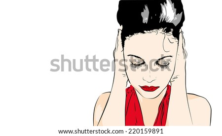 Nothing hear, see nothing  - stock vector