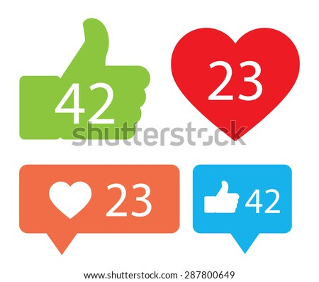 Notification Icons - stock vector