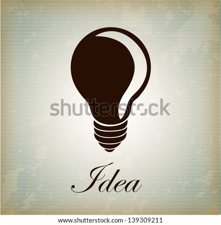 notion bulb over vintage background vector illustration