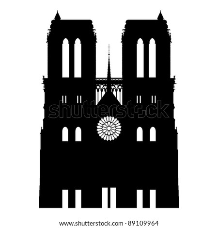 Notre Dame abstract - stock vector