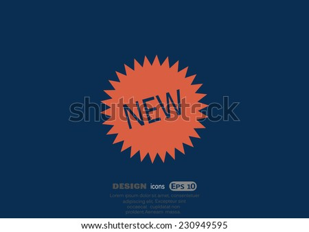novelty, web icon. vector design - stock vector