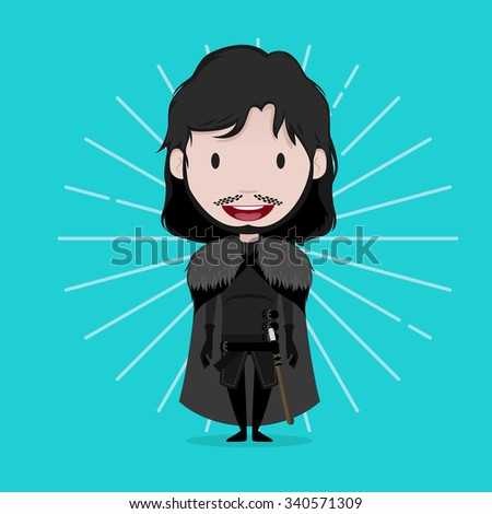 November 19.2015: Vector illustration of Jon Snow (Game of thrones)