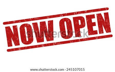 Now open grunge rubber stamp on white background, vector illustration - stock vector