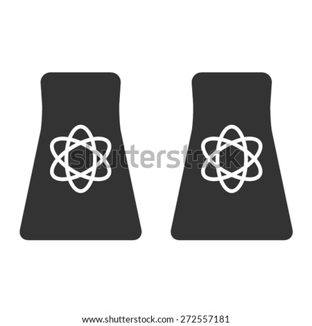 Nuclear & atomic energy flat icon for websites - stock vector