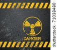 nuclear danger warning background - stock vector