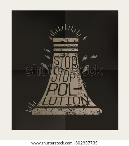 Nuclear design on black background,vector - stock vector