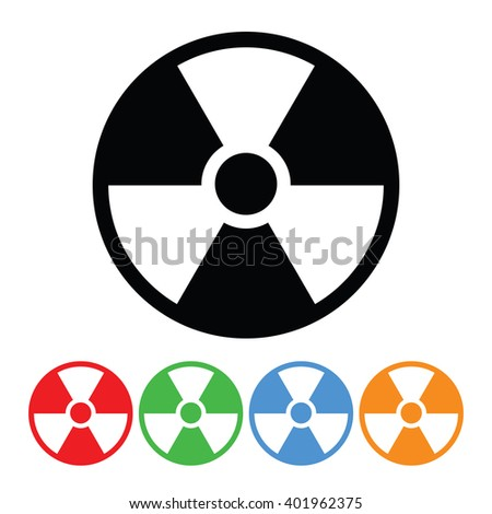 Nuclear Energy Symbol Icon - stock vector