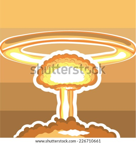 Nuclear Explosion vector - stock vector
