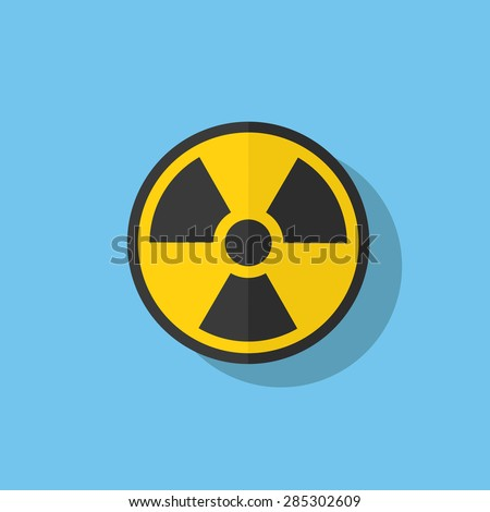 Nuclear Icon - stock vector