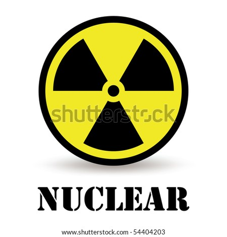 Nuclear icon isolated on white vector - stock vector