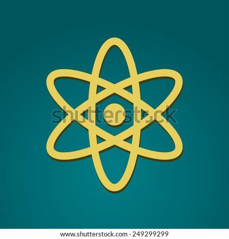 Nuclear icon. Vector illustration. - stock vector