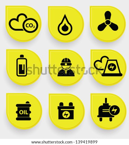 Nuclear icons,vector - stock vector