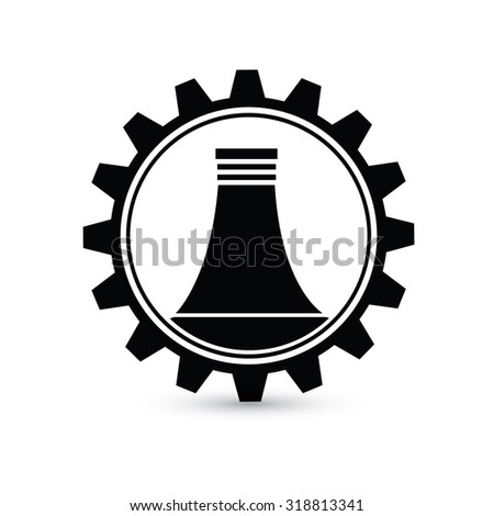 Nuclear, industry design,gear concept on white background,clean vector - stock vector
