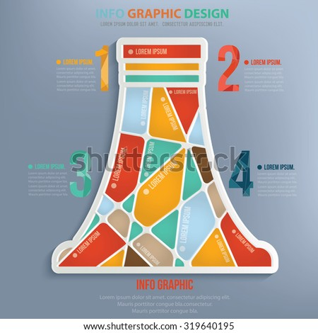 Nuclear info graphic design,clean vector - stock vector