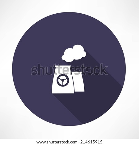 nuclear power plant icon - stock vector