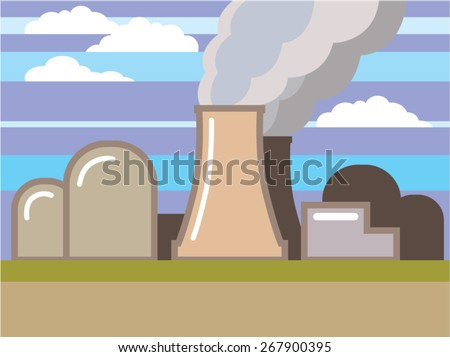 Nuclear Power Plant vector illustration  - stock vector