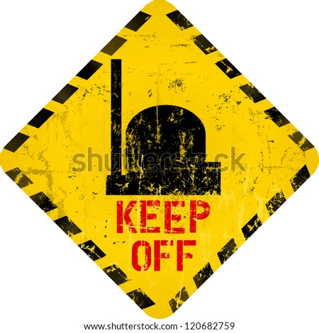 nuclear warning, grungy radiation sign, nuclear power plant - stock vector
