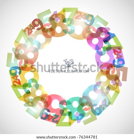 Number abstract background. - stock vector
