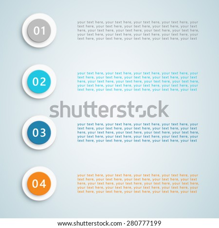 Number Bullet Points Vector 1  - stock vector