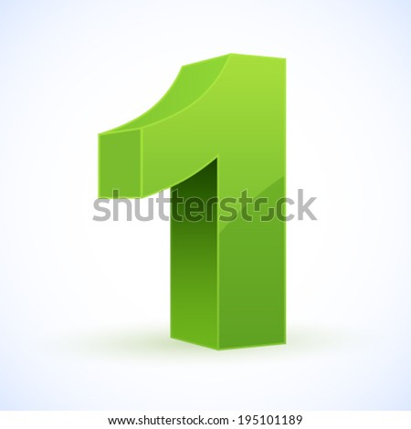 Number 1. Eps 10. - stock vector