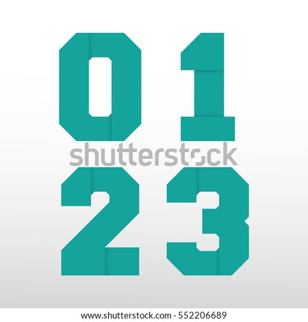 Number Font Template Set Numbers  Stock Vector