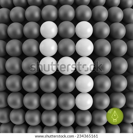 Number four. Abstract mathematics background. 3d vector illustration.  - stock vector