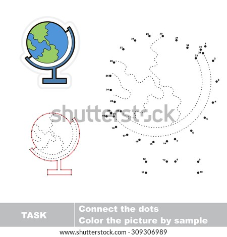 number game for kids connect dots for numbers and find hidden earth dot to