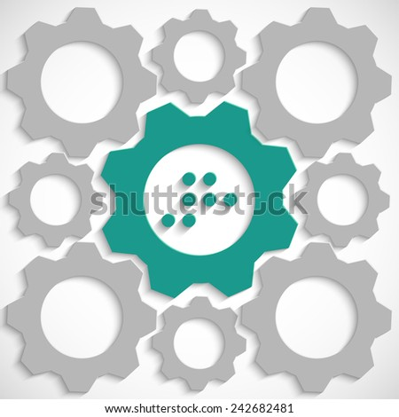 Number 8 in Braille the mechanism - stock vector