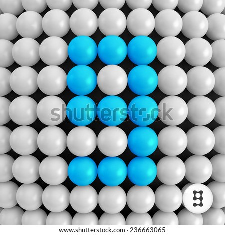 Number nine. Abstract mathematics background. 3d vector illustration.  - stock vector