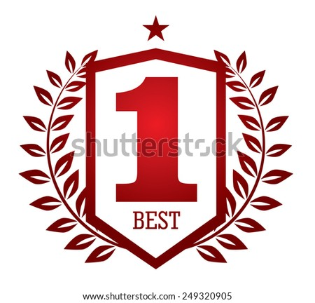 Number One Emblem - stock vector