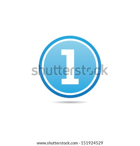 Number One Icon - stock vector