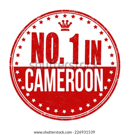 Number one in Cameroon grunge rubber stamp on white background, vector illustration - stock vector