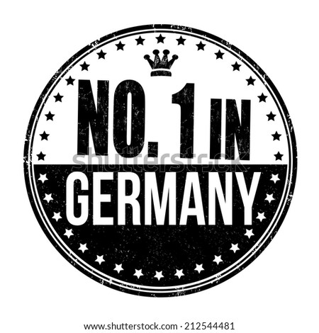 Number one in Germany grunge rubber stamp on white background, vector illustration - stock vector