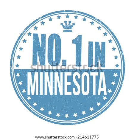 Number one in Minnesota grunge rubber stamp on white background, vector illustration - stock vector
