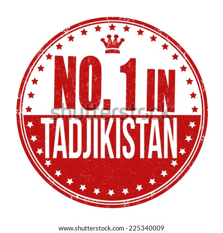Number one in Tadjikistan grunge rubber stamp on white background, vector illustration - stock vector