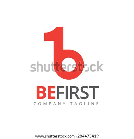 Number one, one, first logo. - stock vector