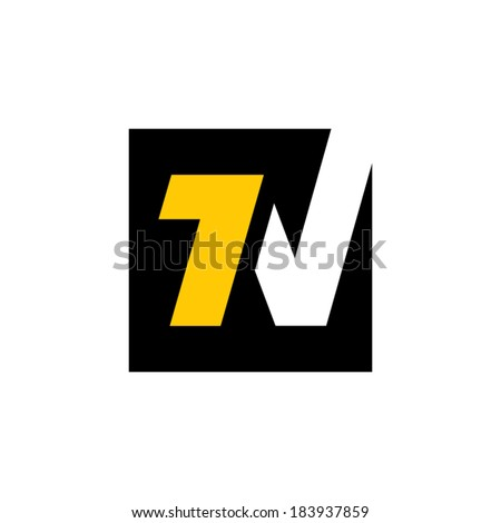 Number one sign Branding Identity Corporate vector logo design template Isolated on a white background - stock vector