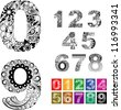 Number ornaments. Easy to edit. Use for any design you want. - stock photo