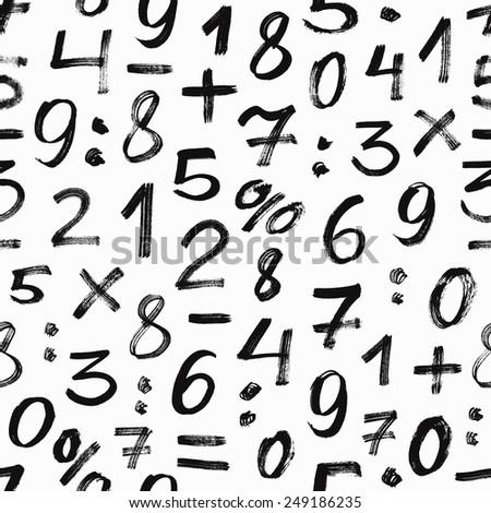 Number seamless pattern. Vector illustration. - stock vector