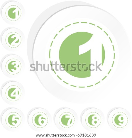 Number sign collection. Vector set. - stock vector