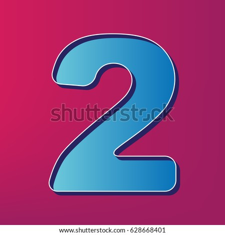 Number 2 sign design template elements stock vector 604283819 number 2 sign design template elements vector blue 3d printed icon on magenta background pronofoot35fo Gallery