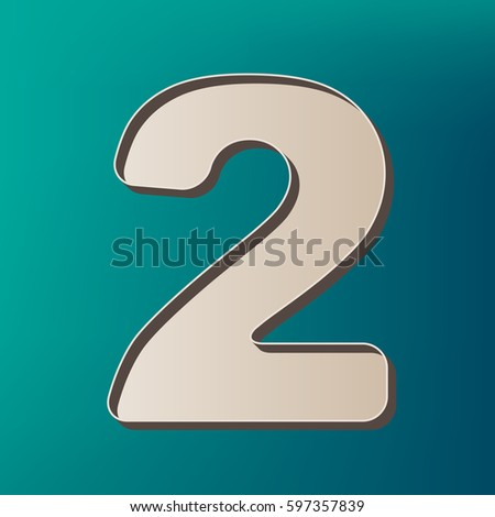 Number 2 sign design template elements stock vector 591682298 number 2 sign design template elements vector icon printed at 3d on sea color pronofoot35fo Gallery