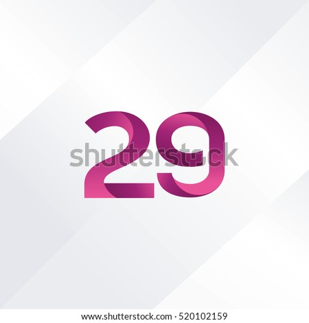 Number twenty nine 29 Logo, Digit 29 Icon