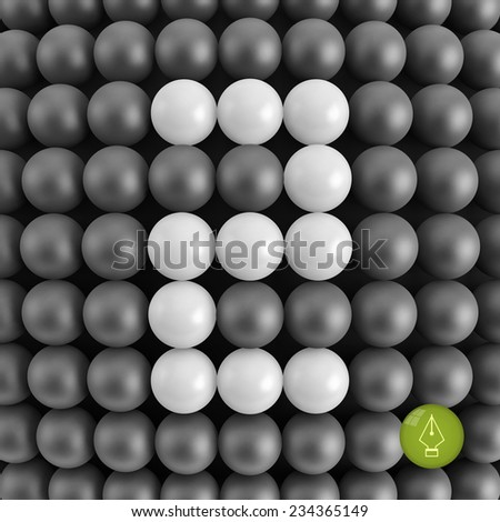 Number two. Abstract mathematics background. 3d vector illustration.   - stock vector