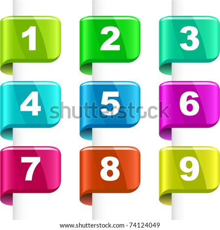 Number vector icon. Vector collection for page. - stock vector
