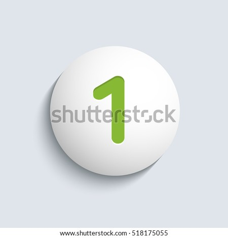 "Number ""1"". Vector illustration."