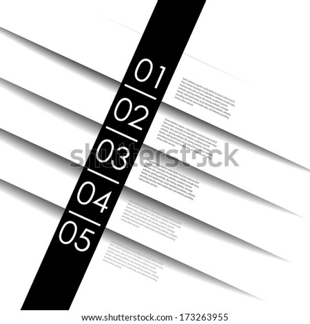 numbered banners for sample text/ Vector design template. - stock vector